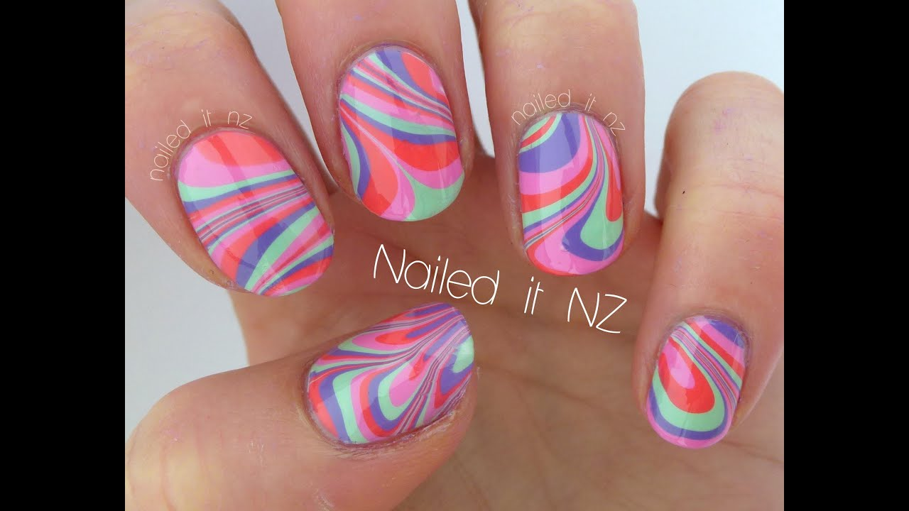 Water marble nails - tips, tricks & a tutorial! - YouTube