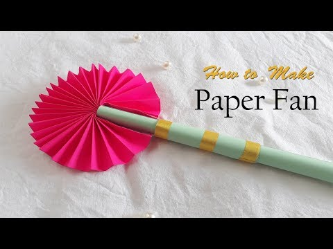 How To Make Paper Fan /Japanese Paper Fan Craft / Craft Ideas With Paper