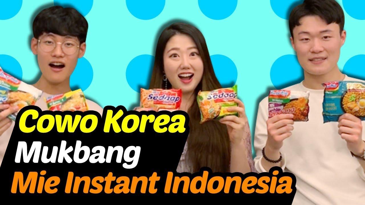 Memperkenalkan mie instant no  1 di dunia kepada teman cowo Korea  Reaksinya?
