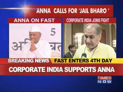 India Inc supports Anna hazare