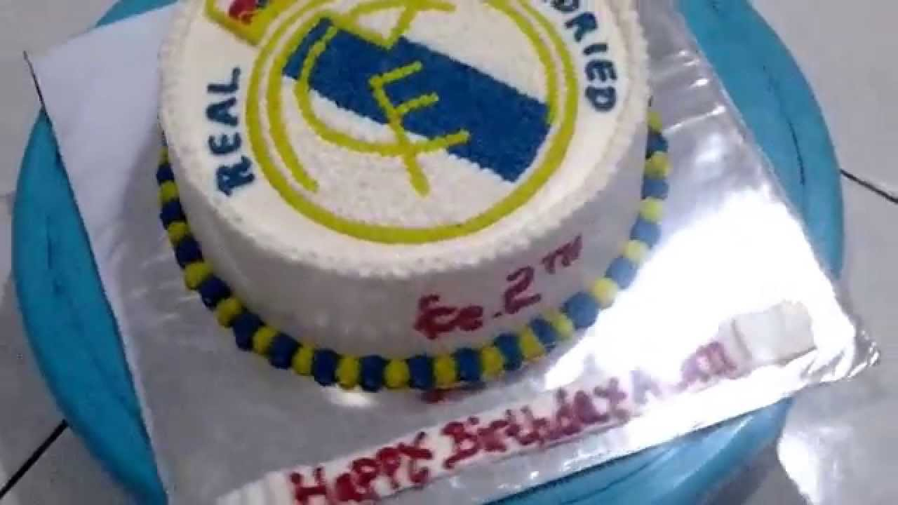 Cake Images Real : Real Madrid Theme Cake Birthday - YouTube