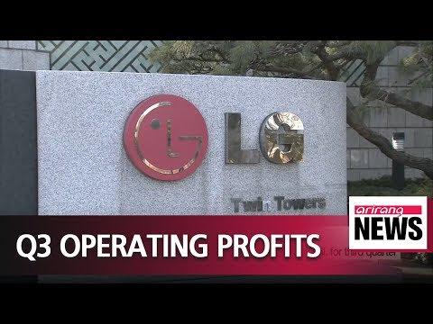 Samsung Electronics and LG Electronics 3rd quarter operating profits
