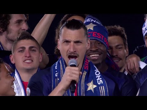Paris Saint Germain Full Celebration - Zlatan lift the Ligue 1 trophy 2016 (2/2)