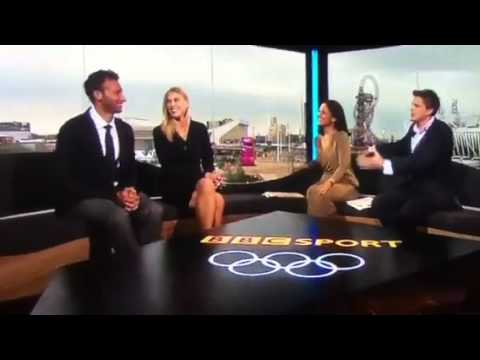 Sharron Davis sticks her finger up a guys arse on live tv!!