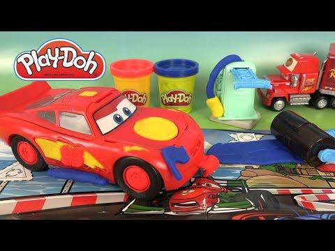 Play Doh Disney Cars 3 Pâte à Modeler Flash Mcqueen Youtube