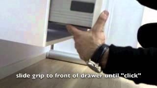 Seima How To: remove and install slider / designyo vanity drawers.