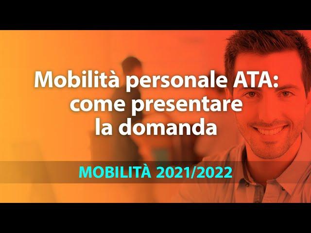 Mobilità personale Ata 2021/22: come presentare la domanda