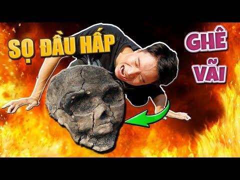 Tony | Thách Ăn Gá Nướng Sọ Đầu Kinh Dị  - Boil Chicken In Skull