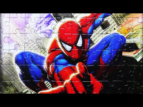 Marvel Spider-Man Puzzle Games Rompecabezas JR Games Junior Play Kids Learning Toys