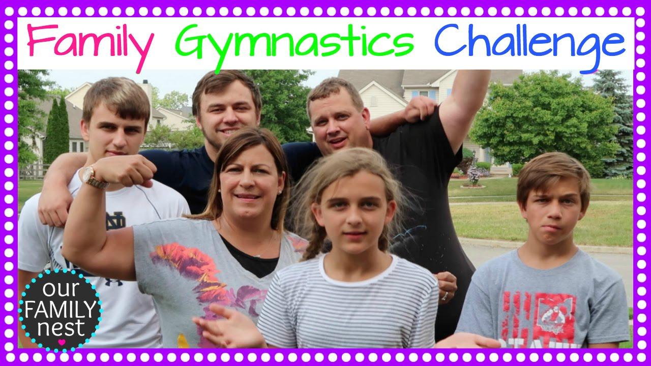 Family Gymnastics Challenge Youtube
