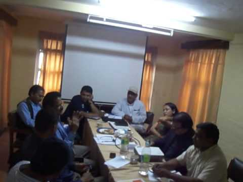 Consultation meeting organized by AutismCare Nepal with personnel of Ministry of Education