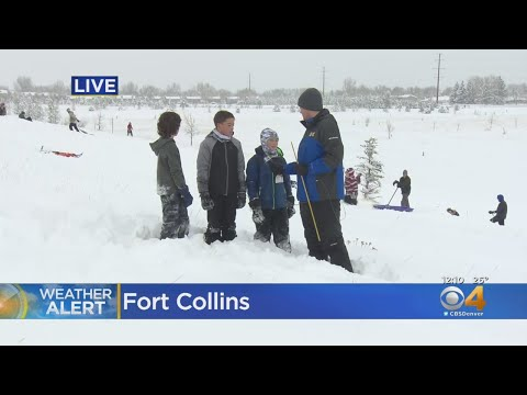 Fort Collins Got A Lot Of Deep, Heavy Snow