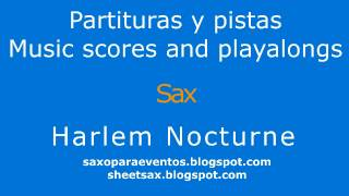 Harlem nocturne on sax! Jazz standard sheet music and playalong