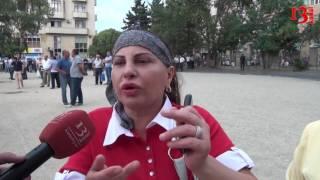 Mitinqə gələnlər problemlərini Kanal13-ə danışdılar