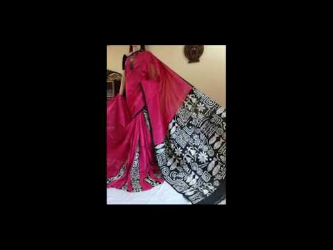 Acid Painted Molmol Sarees