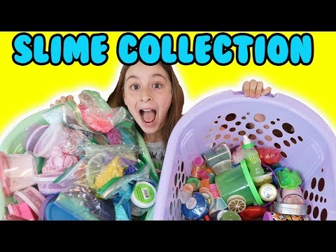 ORGANIZING MY SLIME COLLECTION ** Updated 2018 ** 👍😊😍Part 1!
