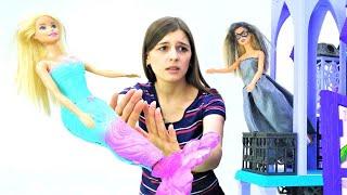 Кукла Барби превратилась врусалку! —Маша против злой колдуньи! —Надо вернуть ноги Барби!