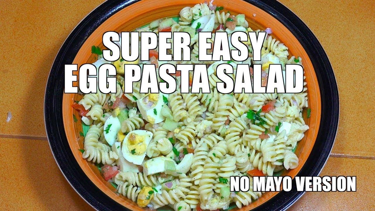 Egg Pasta Salad Super Easy Pasta Salad Macaroni Salad Mid Week Easy Recipes Salad