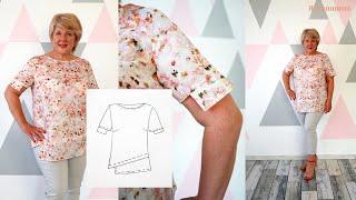 Копируем брендовую блузу. Моделирование и раскрой очень легкой и нежной блузы из батиста