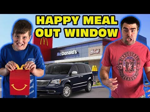 Kid Throws Sister's Happy Meal Out Window Skit