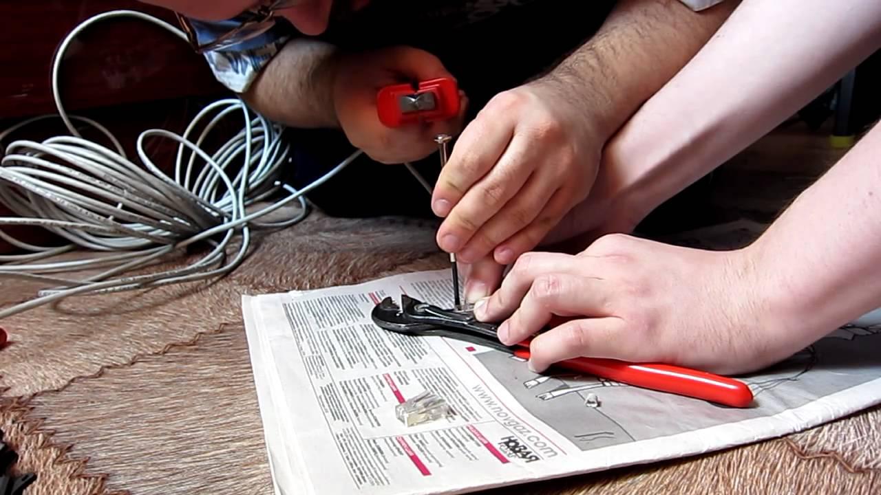 Как обжать телефонный кабель - 2 и 4 жилы | Настройка