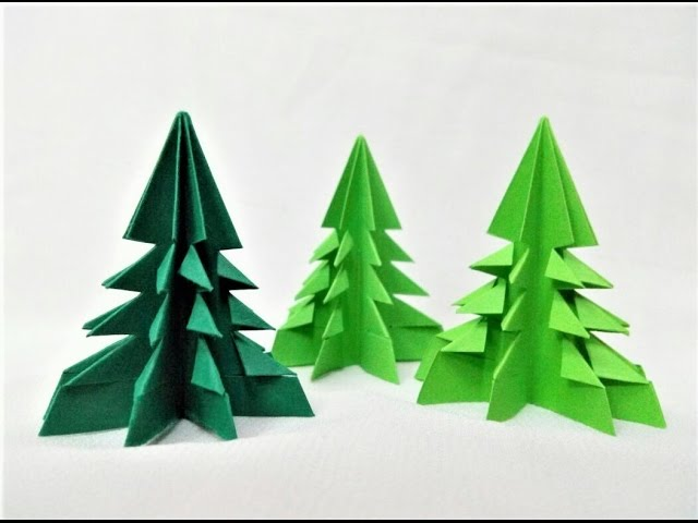 how to make a simple and easy paper christmas tree - How To Make A Paper Christmas Tree