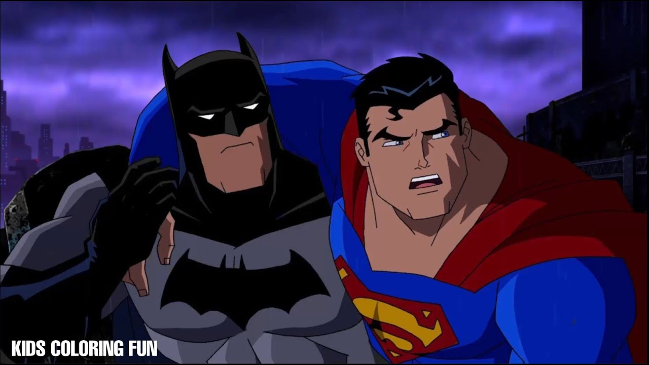 BATMAN Vs SUPERMAN Coloring Book Pages For Kids Learning Colors 04