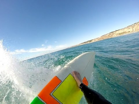 GOPRO POV Surfing a California Left Point Break