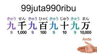 """Pelajaran bahasa Jepang 006 """"Pengucapan Angaka03"""""""