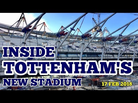 EXCLUSIVE: INSIDE TOTTTENHAM'S NEW STADIUM: Roof Preparation & Spurs Logos Appear! 17 February 2018