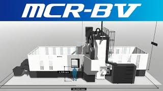 3d machine view/double-column machining center mcr-bⅤ【okuma corporation japan】