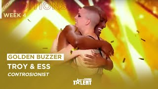 GOLDEN BUZZER ! Watch this Contortion act by Troy & Ess on France's got talent