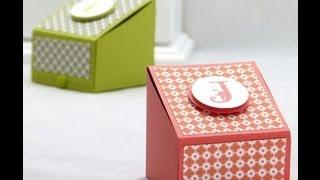 Stampin Up UK Boys Treat Gift Box Tutorial