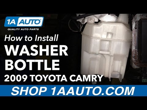How to Install Replace Windshield Washer Reservoir 2007-11 Toyota Camry
