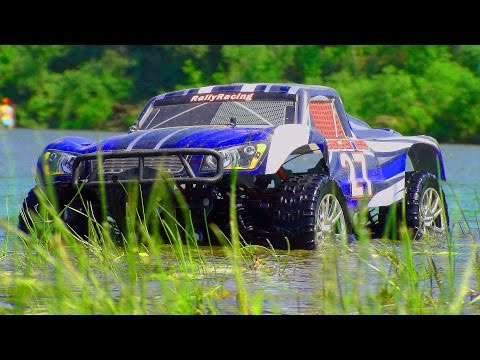 RC Extreme Pictures | RC Truck Bashing, Jumping, Racing Fun, Water, MUD | 1/8th HSP Short Course 4×4