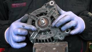 Alternator front bearing change, Bosch and valeo tutorial.