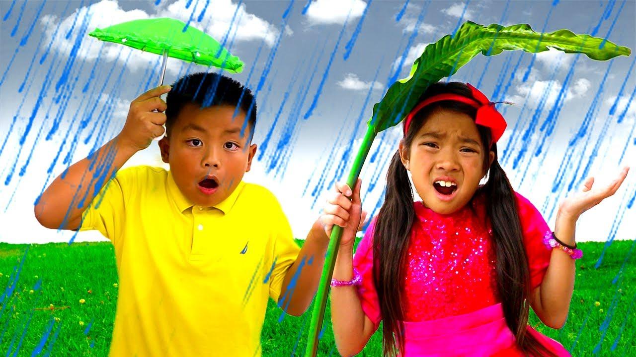 Download Lluvia Lluvia Vete Ya – Canciones Infantiles| Emma & Jannie Sing-Along Nursery Rhymes | Musica Niños