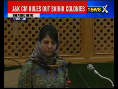 Uproar in Jammu & Kashmir Assembly; CM Mehbooba Mufti rules out Sainik Colony