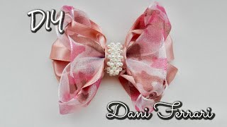 Laço de fita de cetim – Tutorial passo a passo – Ribbon bow hair – Dani Ferrari