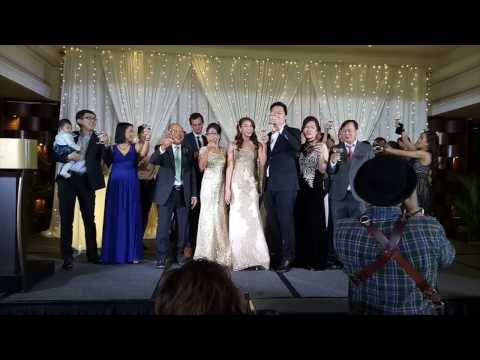 Kim and Andrew's wedding - dinner reception @ marina mandarin 6 jan 2017