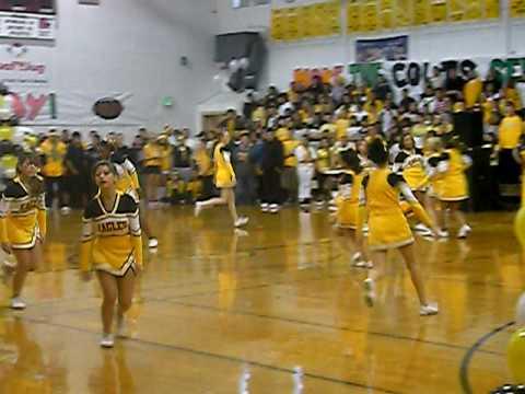 Pueblo East High School Cannon Assembly 2009 cheerleaders