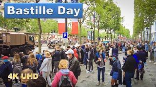 Bastille Day 2021- Walking Tour, Paris France [4K]