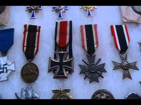 Nazi German medal and badge collection Iron Cross ect. WWII WW2
