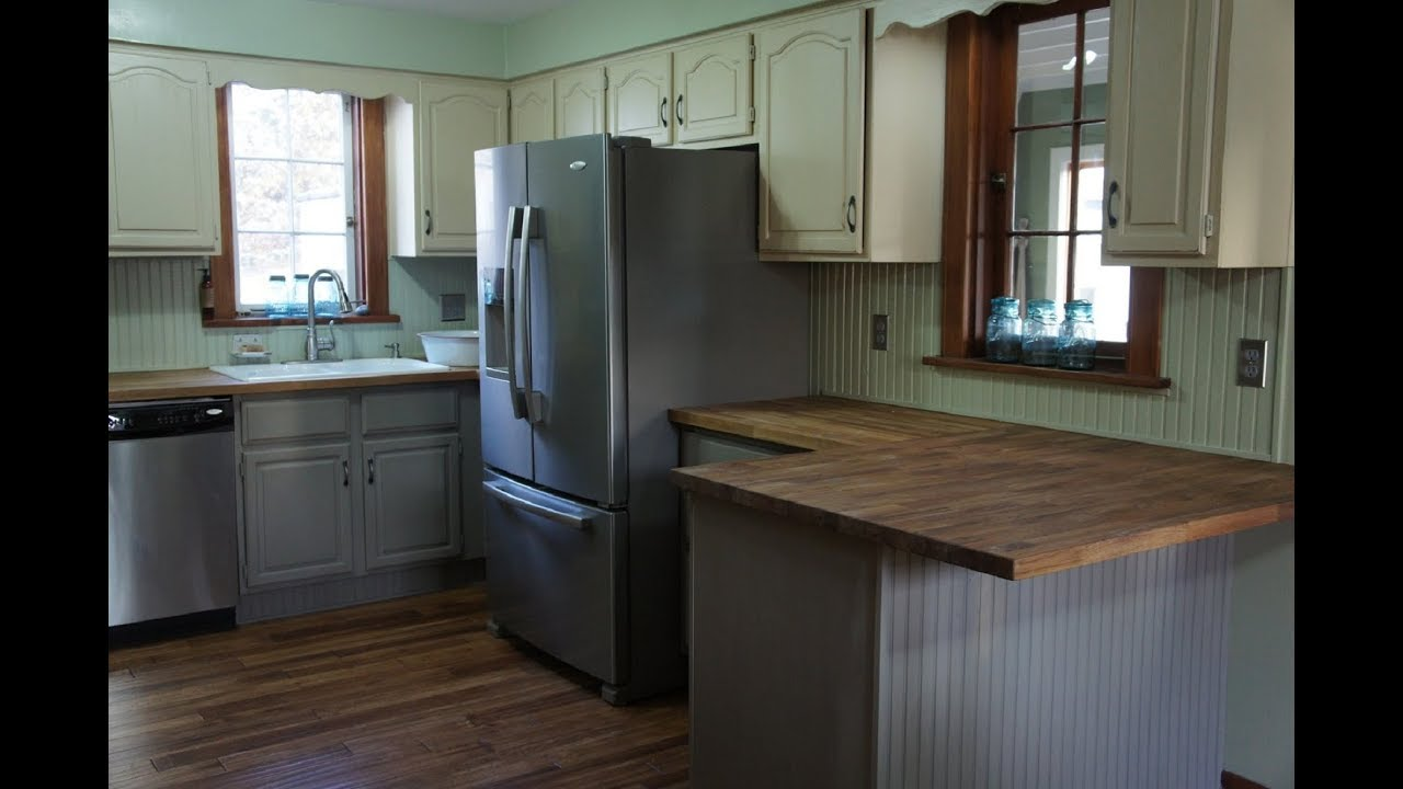 Painting kitchen cabinets with chalk paint youtube for Youtube painting kitchen cabinets