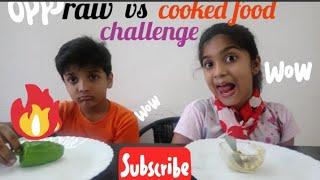 raw vs cooked food || DEV VS RISH || #fun#kids#challenges