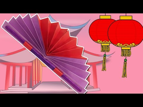 Learn how to make a Chinese Fan | Easy DIY Paper Fan Craft | Summer & Spring Decor/Crafts