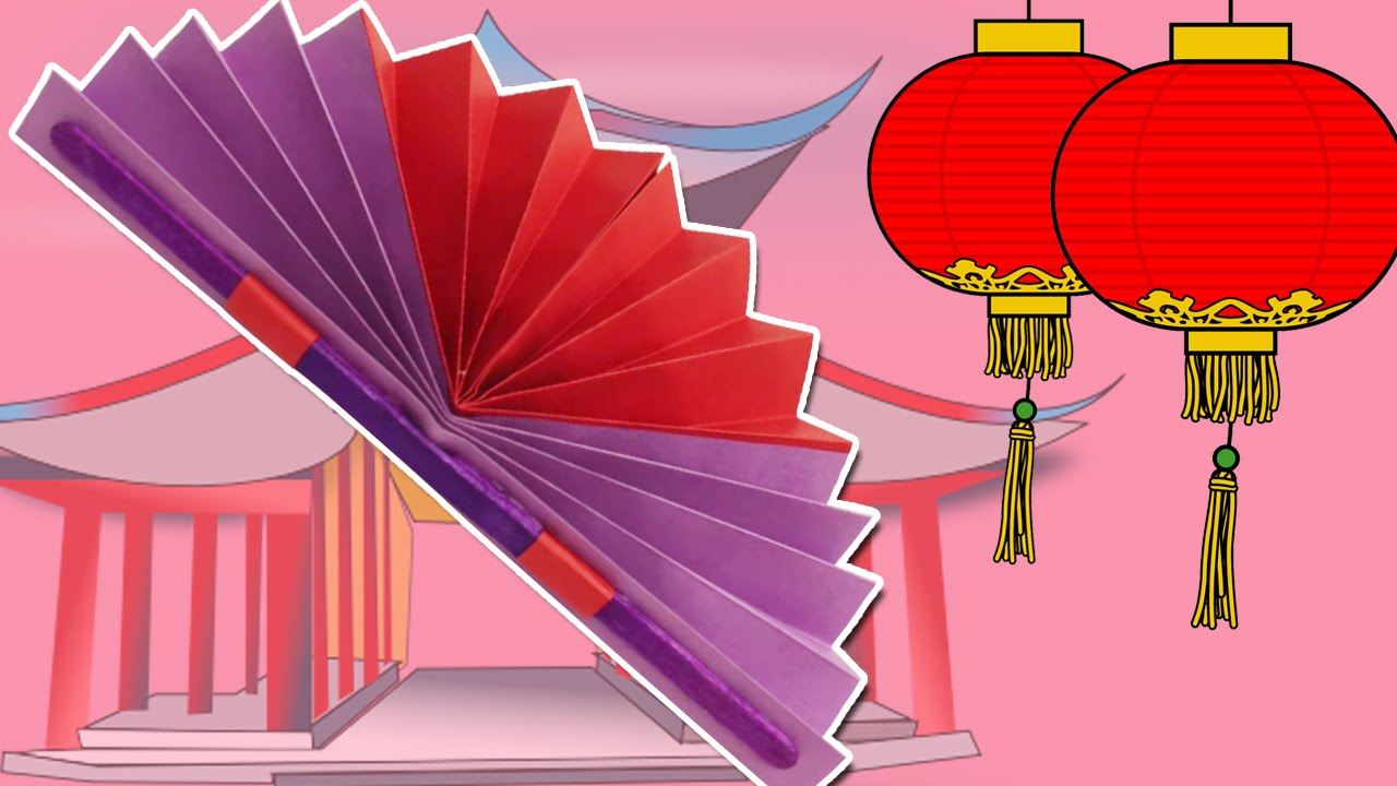 Learn How To Make A Chinese Fan Easy Diy Paper Fan Craft Summer