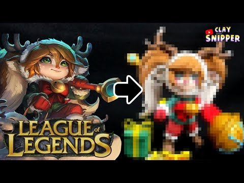 "League of Legends "" snow fawn poppy "" Clay art tutorial!"