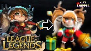 "League of Legends "" snow fawn poppy "" Clay art tutorial!"