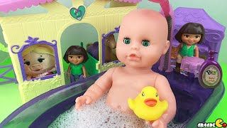 Baby Doll Bath Time PlayGo First Washing Machine With Dora The Explorer